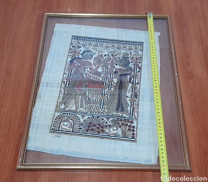 Arte: Papiros firmado Antiguo, enmarcado de 51 X 41 Cm. Ver fotos - Foto 9 - 258641450