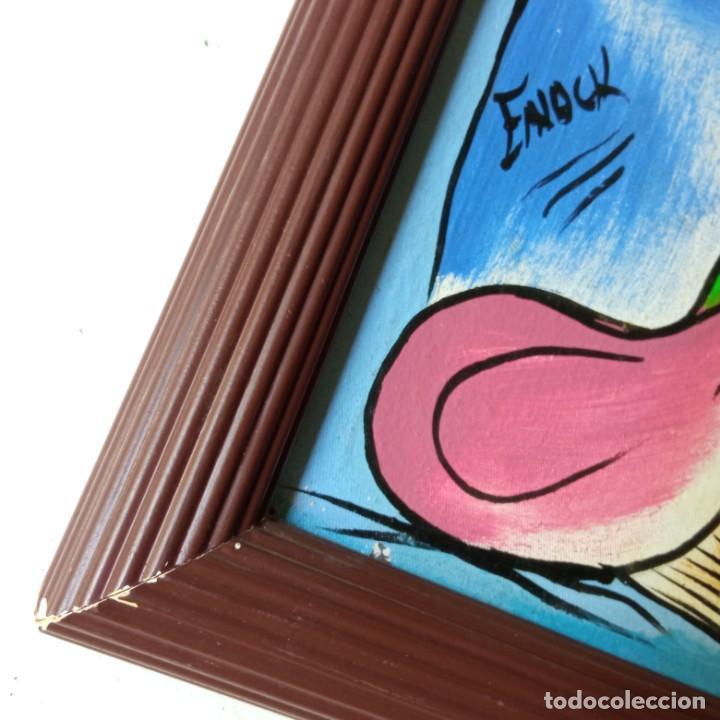 Arte: cuadro con pintura Haití colorista sobre tabla enmarcda - Foto 9 - 261543295