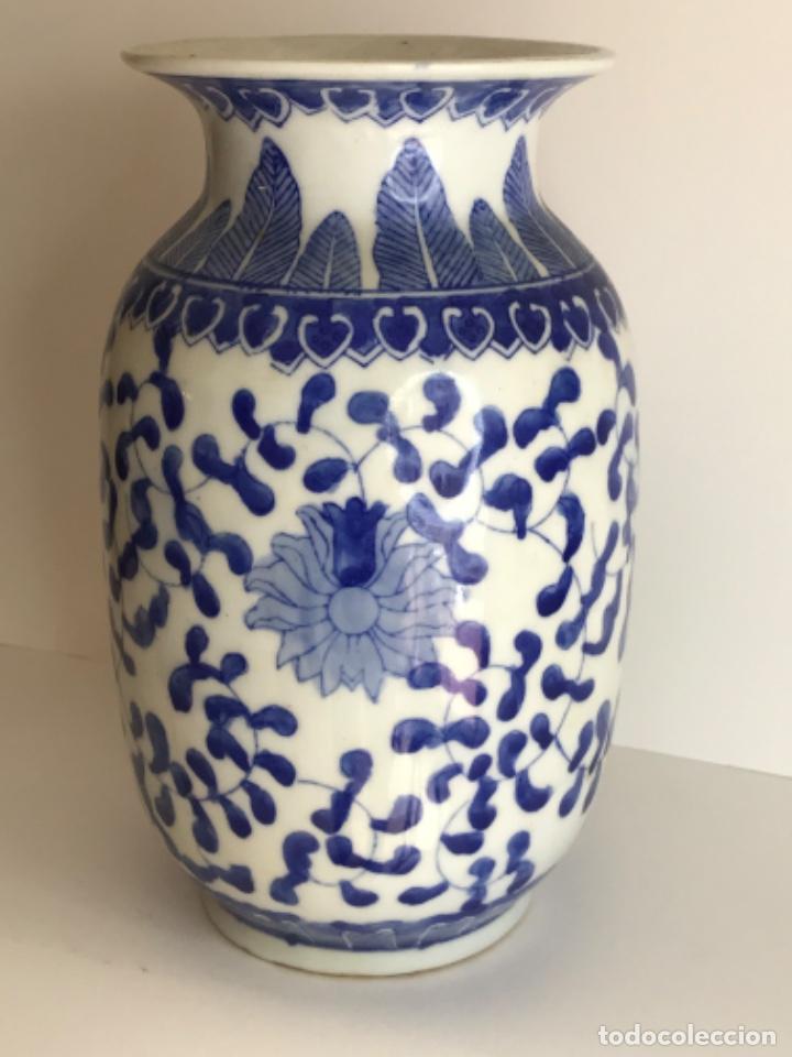 Arte: Jarrón de porcelana China de azul cobalto.Firmado. - Foto 2 - 262184550