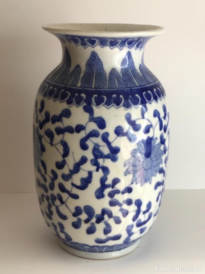 Arte: Jarrón de porcelana China de azul cobalto.Firmado. - Foto 3 - 262184550