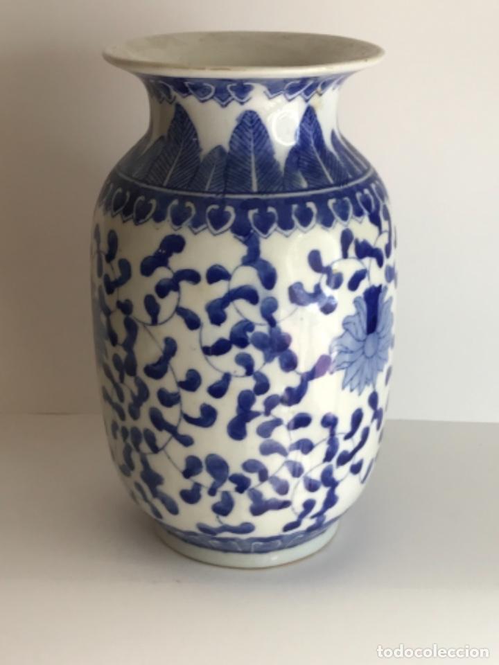 Arte: Jarrón de porcelana China de azul cobalto.Firmado. - Foto 4 - 262184550