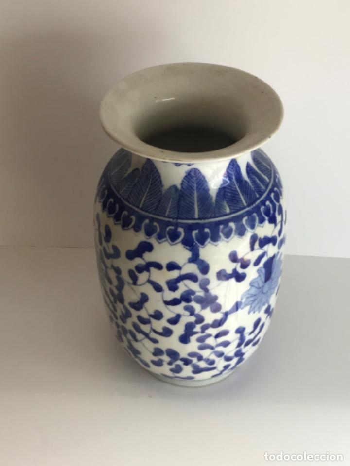 Arte: Jarrón de porcelana China de azul cobalto.Firmado. - Foto 5 - 262184550