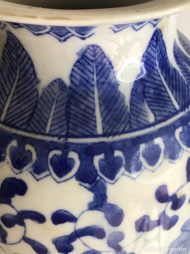 Arte: Jarrón de porcelana China de azul cobalto.Firmado. - Foto 6 - 262184550