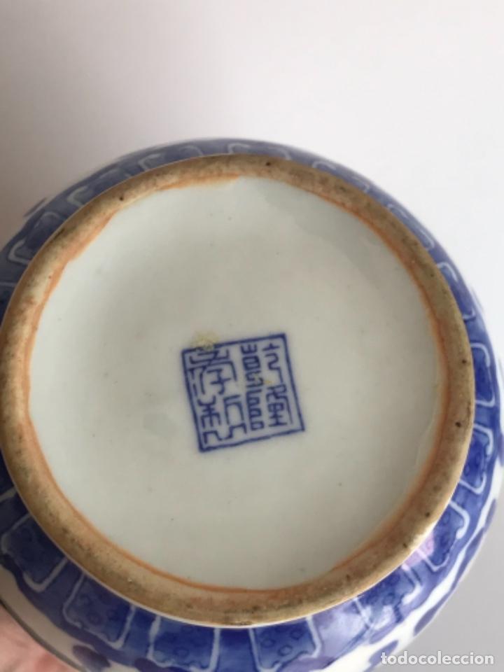 Arte: Jarrón de porcelana China de azul cobalto.Firmado. - Foto 7 - 262184550