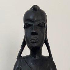 Arte: FIGURA DA MULHER AFRICANA ( MASSAI ). Lote 262358205