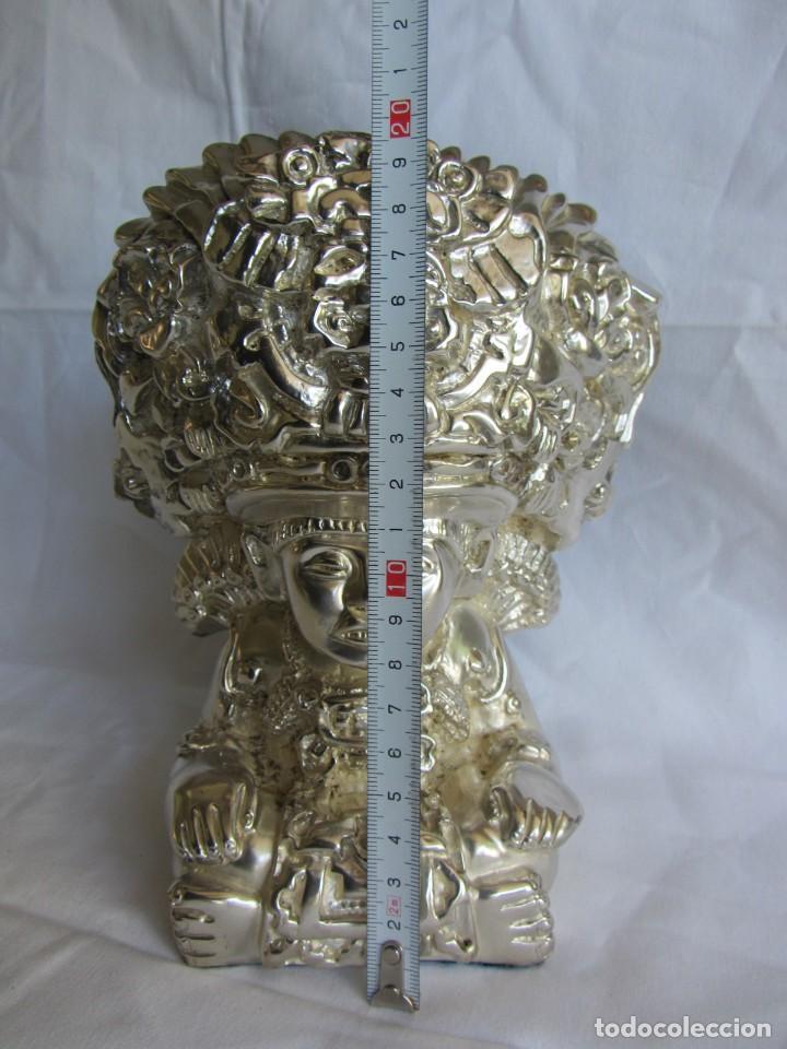 Arte: Figura de dios Azteca, DArgenta, cobre bañado en plata - Foto 2 - 262423420