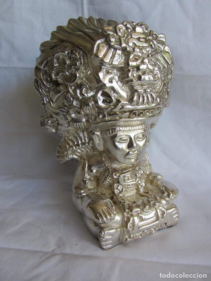 Arte: Figura de dios Azteca, DArgenta, cobre bañado en plata - Foto 3 - 262423420