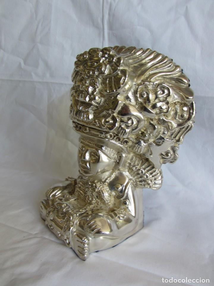 Arte: Figura de dios Azteca, DArgenta, cobre bañado en plata - Foto 4 - 262423420