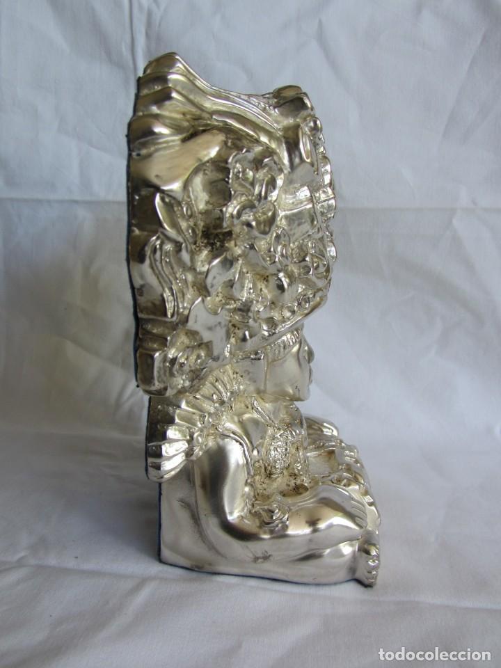 Arte: Figura de dios Azteca, DArgenta, cobre bañado en plata - Foto 5 - 262423420