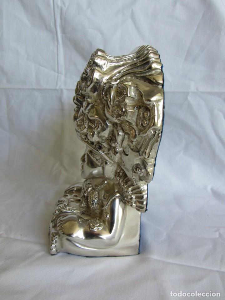 Arte: Figura de dios Azteca, DArgenta, cobre bañado en plata - Foto 7 - 262423420