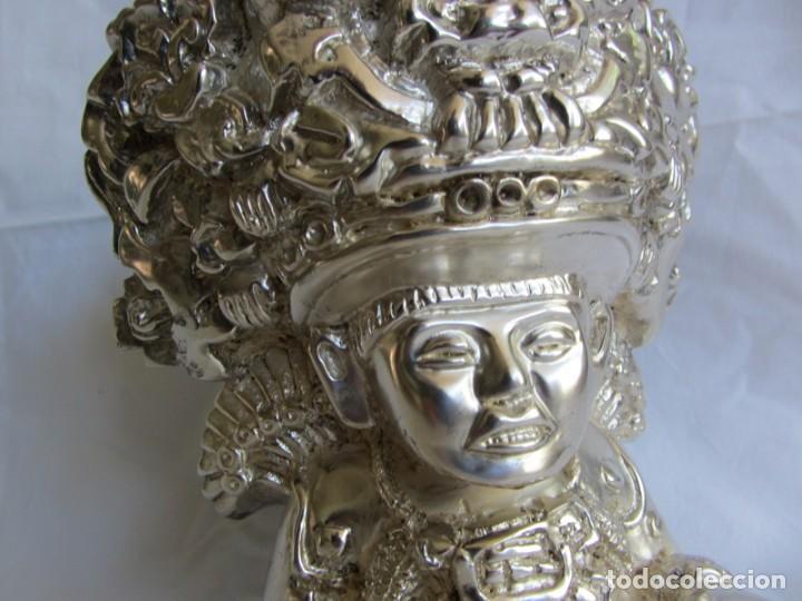 Arte: Figura de dios Azteca, DArgenta, cobre bañado en plata - Foto 8 - 262423420