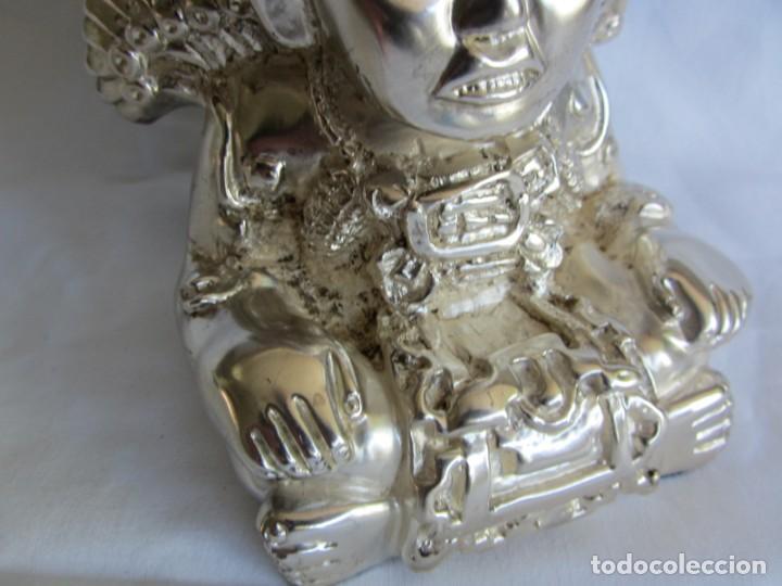 Arte: Figura de dios Azteca, DArgenta, cobre bañado en plata - Foto 9 - 262423420
