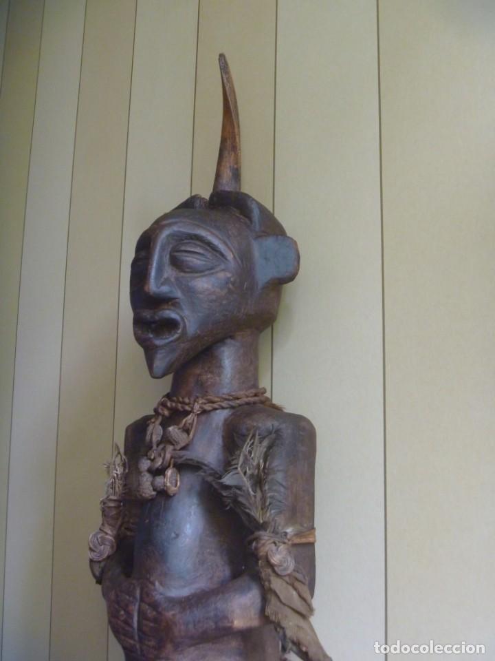 Arte: Impresionante Fetiche Nkisi Songye Congo 150 años Nkisi Songye fetish Congo 150 years Museum piece - Foto 2 - 263155640