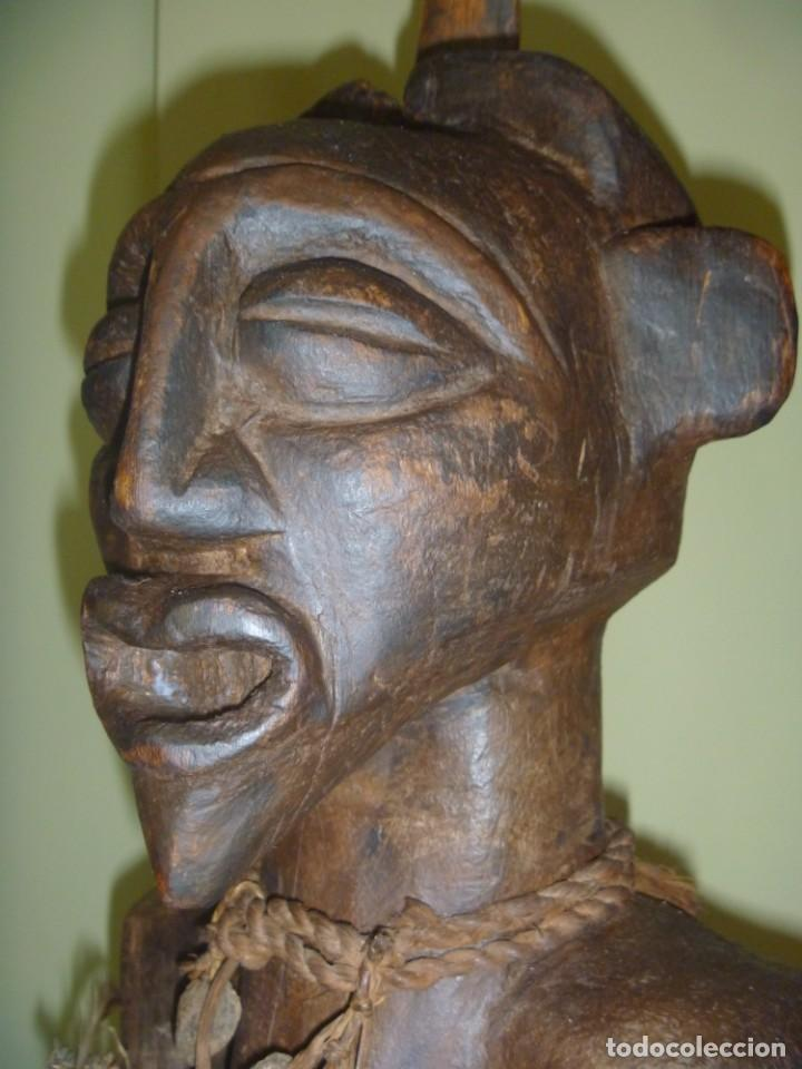 Arte: Impresionante Fetiche Nkisi Songye Congo 150 años Nkisi Songye fetish Congo 150 years Museum piece - Foto 28 - 263155640