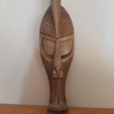Arte: GRAN MÁSCARA AFRICANA ANTIGUA DE RITUAL BAKONGO EN MADERA TALLADA A MANO, REPUBLICA DEL CONGO .. Lote 263175885
