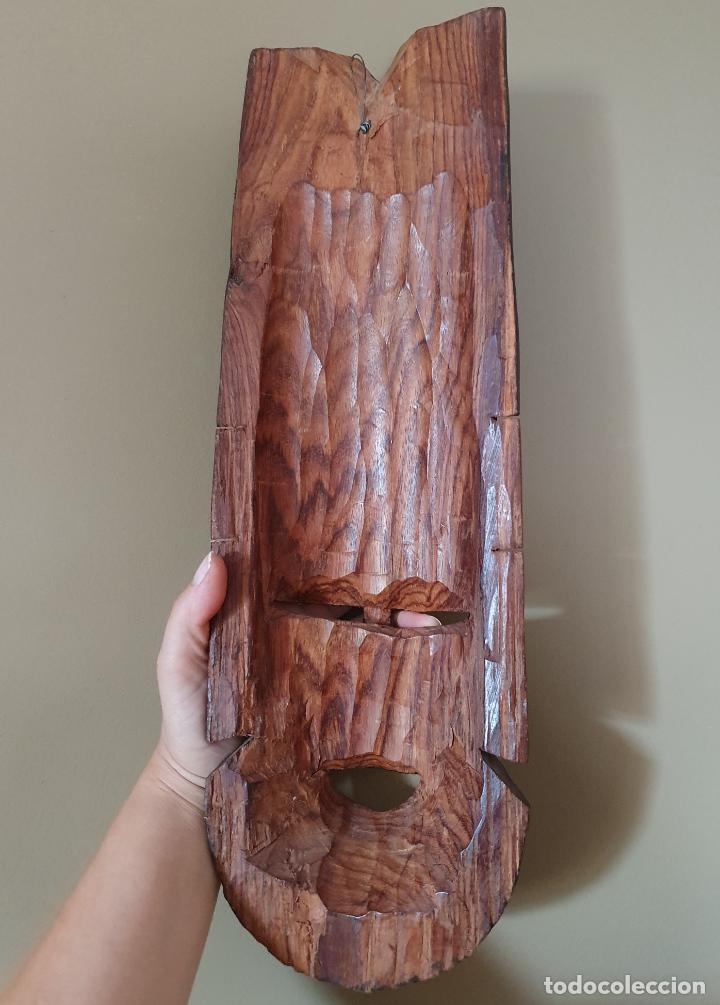 Arte: Gran máscara antigua africana en madera de caoba auténtica tallada a mano . - Foto 6 - 263189960