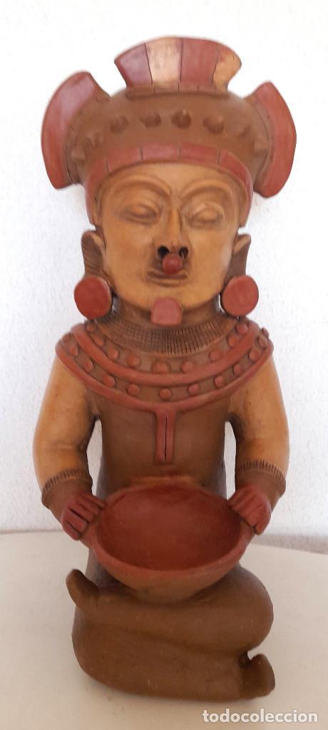 Arte: Gran figura reproducción barro terracota Precolombina ? posible Dios de la Lluvia 54 cm de alto - Foto 2 - 264051445