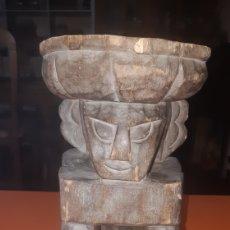 Art: TABURETE AFRICANO AÑOS 60. Lote 264675889