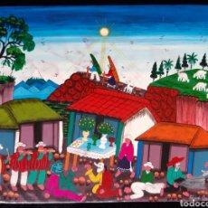 Arte: PINTURA NAIF PERÚANA FIRMADA EDMUNDO CUYO. S.XX. ROGAMOS LEER BIEN LAS CONDICIONES ANTES DE PUJAR.. Lote 264830939