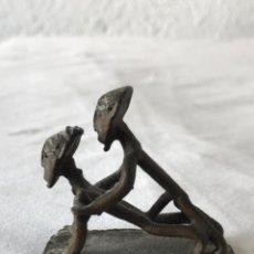 Arte: ARTE ERÓTICO AFRICANO DE BRONCE. Lote 265129039