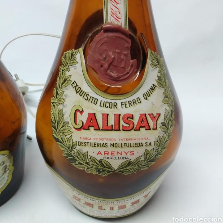 Arte: 2 lámparas de Botellas de Calisay, Arte Popular Funcional años 80, únicas, perfectas para decoración - Foto 5 - 265363089