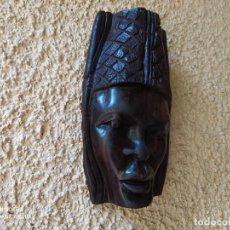 Arte: PRIMOROSA MASCARA AFRICANA, FEMENINA, DE MADERA.. Lote 266844909