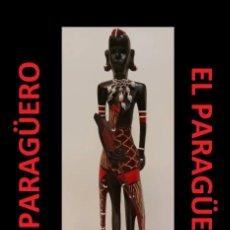 Arte: ANTIGUO GUERRERO AUTENTICA FIGURA AFRICANA TALLADA EN MADERA ES DE PRINCIPO DEL SIGLO XX. Lote 267783914