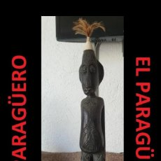 Arte: ANTIGUO CHAMAN FIGURA AUTENTICA AFRICANA TALLADA EN MADERA ES DE PRINCIPO DEL SIGLO XX. Lote 267786479