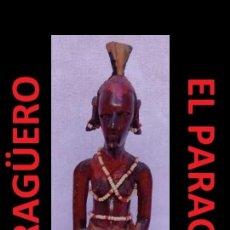 Arte: ANTIGUA FIGURA AUTENTICA AFRICANA TALLADA EN MADERA ES DE PRINCIPIOS DEL SIGLO XX. Lote 267815914