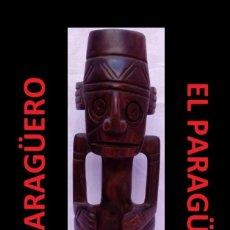 Arte: CHAMAN FIGURA ANTIGUA AUTENTICA AFRICANA TALLADA EN MADERA ES DEL SIGLO XX. Lote 267819374