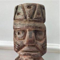Arte: TALLA RITUAL EN MADERA DE LA COSTA DEL PACÍFICO SUR DEL PERU, ÉPOCA INDETERMINADA. Lote 269113083