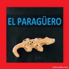 Arte: FIGURA DE ORO TUMBAGA PESO 23 GRAMOS ES UNA SALAMANDRA PRECOLOMBINA QUIMBAYA. Lote 270189613