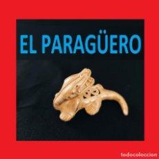 Arte: FIGURA DE ORO TUMBAGA PESO 27 GRAMOS ES UN LAGARTO PRECOLOMBINO QUIMBAYA. Lote 270189698