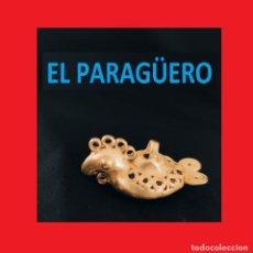 Arte: FIGURA DE ORO TUMBAGA PESO 17 GRAMOS ES UN PAJARO COLIBRI PRECOLOMBINO QUIMBAYA. Lote 270189813