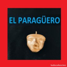 Arte: FIGURA DE ORO TUMBAGA PESO 18 GRAMOS ES UNA MASCARA RITUAL PRECOLOMBINO QUIMBAYA. Lote 270189578