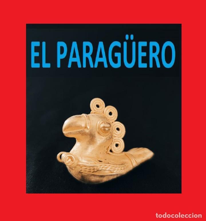 FIGURA DE ORO TUMBAGA PESO 27 GRAMOS ES UN PAJARO REAL PRECOLOMBINO QUIMBAYA (Arte - Étnico - América)