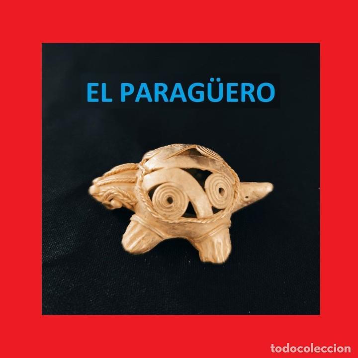 FIGURA DE ORO TUMBAGA PESO 24 GRAMOS ES UNA TORTUGA PRECOLOMBINA QUIMBAYA (Arte - Étnico - América)