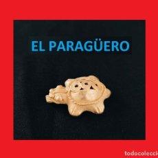 Arte: FIGURA DE ORO TUMBAGA PESO 10 GRAMOS ES UNA TORTUGA PRECOLOMBINA QUIMBAYA. Lote 270190168