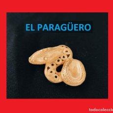Arte: FIGURA DE ORO TUMBAGA PESO 16 GRAMOS ES UNA SERPIENTE PRECOLOMBINA QUIMBAYA. Lote 270190218