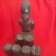 Arte: FETICHE AFRICANO PARA ABUNDANCIA DE UNA SOLA PIEZA ARTESANAL AÑOS 50 MADERA. Lote 270932413