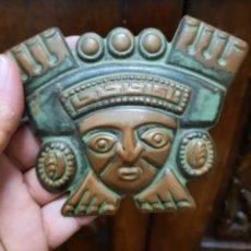Arte: DECORACION INCA REVESTIDA EN COBRE ( 12×10 CM ). Lote 274734008
