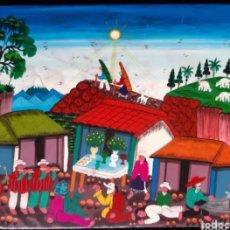 Arte: LIENZO NAIF PINTURA PERUANA FIRMADO. ROGAMOS LEER BIEN LAS CONDICIONES ANTES DE PUJAR O COMPRAR.. Lote 275133163