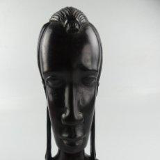 Arte: PRESIOSA FIGURA TALLA DE MADERA MUJER AFRICANA ARTE ETNICO EXCELENTE DECORACIÓN. Lote 275514938