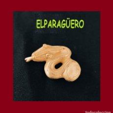 Arte: FIGURA DE ORO TUMBAGA PESO 16 GRAMOS ES UNA SERPIENTE PRECOLOMBINA QUIMBAYA. Lote 276044558