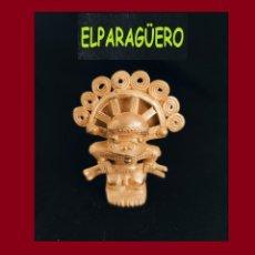 Arte: FIGURA DE ORO TUMBAGA PESO 36 GRAMOS ES UN CHAMAN ANTROPOMORFO PRECOLOMBINO QUIMBAYA. Lote 276045063