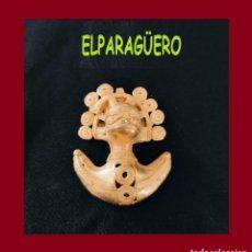 Arte: FIGURA DE ORO TUMBAGA PESO 24 GRAMOS ES UN COLGANTE ZOOMORFICO PRECOLOMBINO QUIMBAYA. Lote 276046443