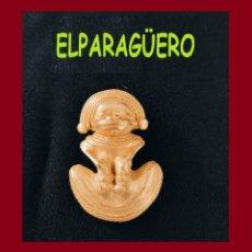 Arte: FIGURA DE ORO TUMBAGA PESO 26 GRAMOS ES UN COLGANTE ZOOMORFICO PRECOLOMBINO QUIMBAYA. Lote 276046993
