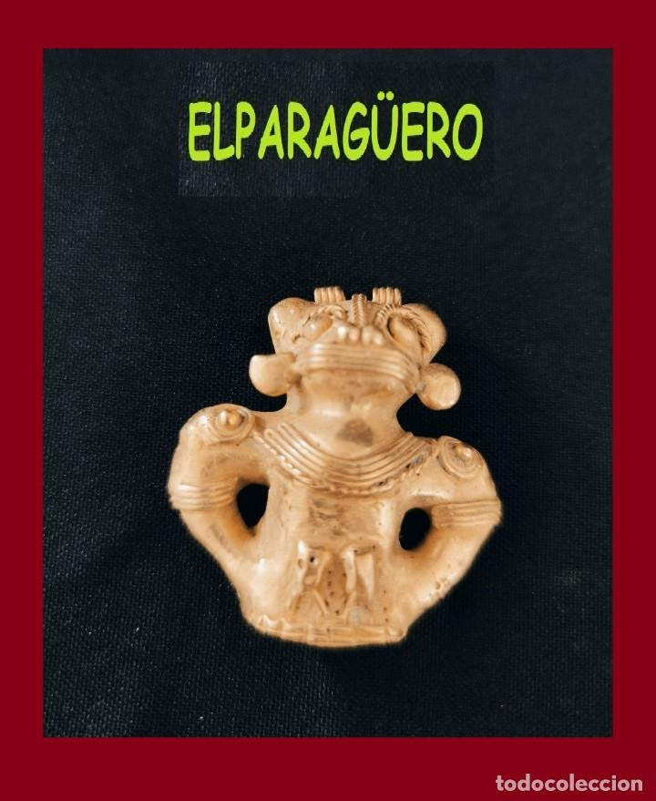 FIGURA COLGANTE DE ORO TUMBAGA PESO 31 GRAMOS ES UN CHAMAN BATMAN ZOOMORFICO PRECOLOMBINO QUIMBAYA (Arte - Étnico - América)