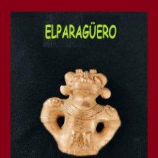 Arte: FIGURA COLGANTE DE ORO TUMBAGA PESO 31 GRAMOS ES UN CHAMAN BATMAN ZOOMORFICO PRECOLOMBINO QUIMBAYA. Lote 276047198