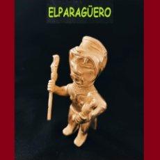 Arte: FIGURA DE ORO TUMBAGA PESO 140 GRAMOS ES UN HOMBRE JAGUAR PRECOLOMBINO QUIMBAYA. Lote 276048828
